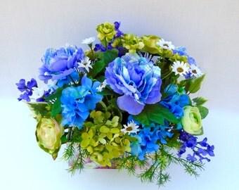 Floral Arrangement , Silk Floral Table Arrangement, Centerpiece, Silk Floral, Spring Floral Arrangement, Summer Floral