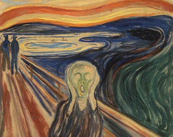 "Edvard Munch ""The Scream"" (digital download of the original painting, high resolution jpg), instant download artwork"