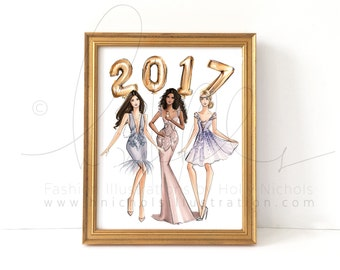 2017 Girls (Fashion Illustration Print)