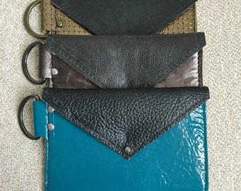 ADD-ON  D-ring/Keyring for leather envelope cardholder wallets