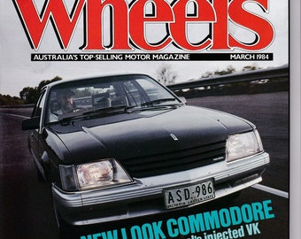 Birthday Gift Idea March 1984 Wheels Magazine Anniversary Gift for Him Boyfriend Gift for Man Car Decor Car Gifts Husband Gift Australia