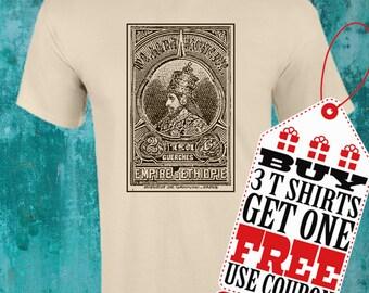 Haile Selassie I T shirt!!! Rastafari!!!! Screen Printing over cotton!!!