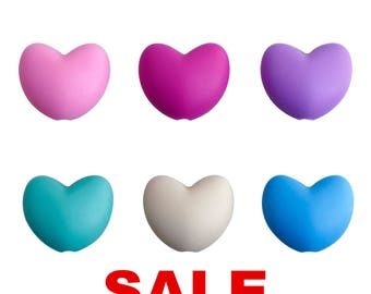 Hearts - DIY Loose Silicone Beads (Wholesale)