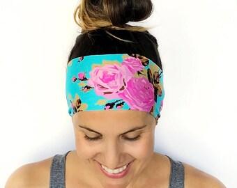 Yoga Headband - Workout Headband - Fitness Headband - Running Headband - Freshly Picked - Boho Wide Headband