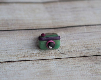 Green Statement Ring, Friend Ring, Photographer Gift, Camera Jewelry, Hipster Gift Her, Photography Jewelry, Photography Ring