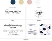Branding Design Kit, Logo Branding Kit, Branding Package, Small Branding Kit, Brand Pack, feminine logo, blogger logo, minimal branding kit