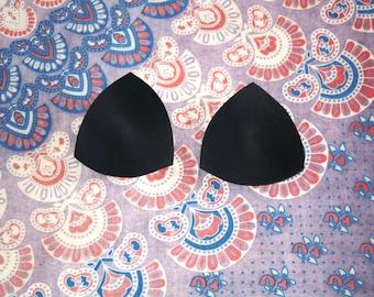 Black Swimsuit Padding, Bikini Top Pads, Bathing Suit Inserts, Triangle Bikini Pads, Add Bikini Insert Pads To Custom Made Orders