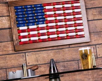12 Gauge American Flag Wall Art. Made in the USA! FREE SHIPPING.