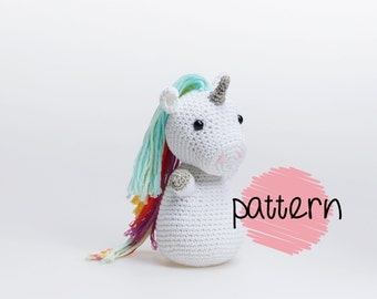 Unicorn Amigurumi, Crochet Pattern, Unicorn Patterns, Unicorn DIY, Crochet Toy Patterns, PDF Tutorial, Beginner Amigurumi Tutorial