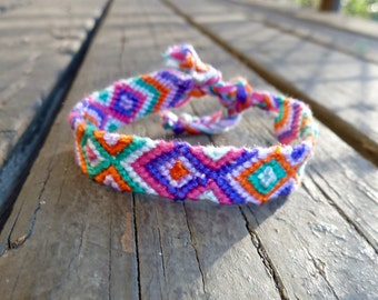 Aztec-Inspired Macrame Friendship Bracelet