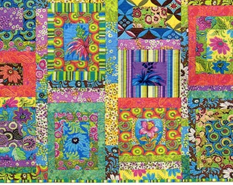 Amy Butler Ginger Bliss Quilt Kit, 28 Fat Quarters, 3 Yards of Backing Fabric, Free Spirit Fabric, Fabric Destash