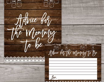 Babyq Advice for Mommy to Be Card and Sign- Babyq Baby Shower Advice Cards - BBQ Baby Shower Games Baby-115