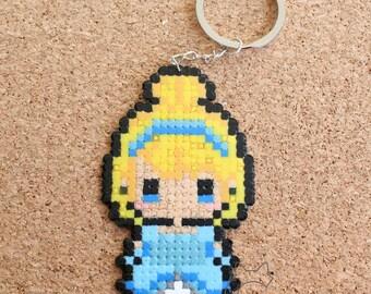 Cinderella Hama Beads Keychain