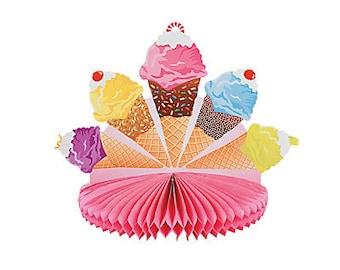 I Love Ice cream Party centerpiece /  Ice Cream theme party / Ice Cream party