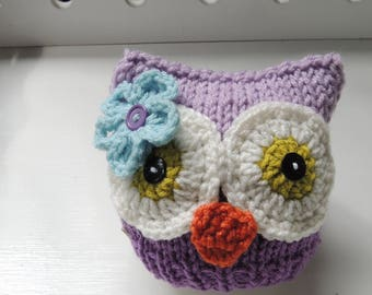 Knit Owl Beanie, Luv Beanies, Owl hats, Baby Owl Beanies, Baby Owl Hats, Owl Photo Props, Animal hats, Hats for babies