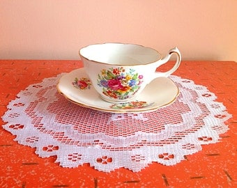 Lovely vintage fine bone china England tea cup and saucer
