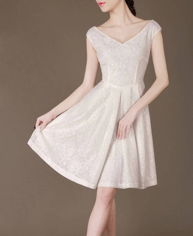 Casual Plus Size Wedding Dresses: Casual Wedding Dress Summer White A Line Dress Plus Size