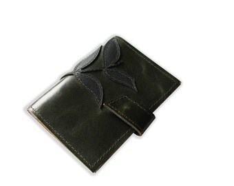 Leather Olive Green Passport Wallets