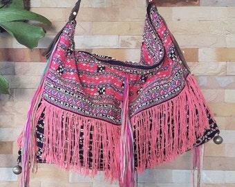 100 % Unique Karen Bag/Bohemian Tote/Hmong Bag/Bohemian Bag/Karen Embroidered Bag/Karen Shoulder Bag/Hand Woven Bag