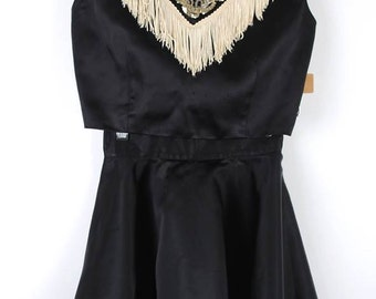 50s Cowgirl Western Costume - Vintage 1950s Fringe Western Skirt, Top, and Bloomers Set