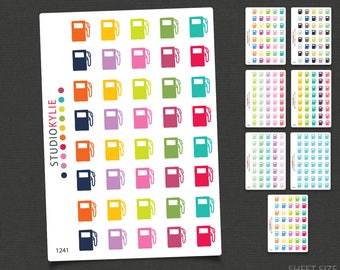 Petrol Icons - Gas Icons - Repositionable Matte Vinyl to suit all planners