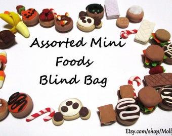 Blind bag of dollhouse miniature assorted food polymer clay handmade dollhouse miniatures