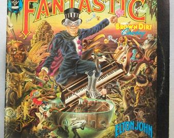 Elton John - Captain Fantastic and the Brown Dirt Cowboy Album MCA Records 1975 Original Vintage Vinyl Record LP