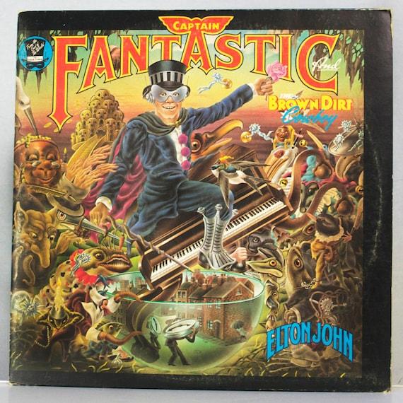 Elton John - Captain Fantastic and the Brown Dirt Cowboy Album MCA Records 1975 Original Vintage Vinyl Record