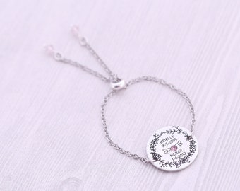 Adjustable Engraved Bolo Bracelet - Memorial Jewelry - Engraved Jewelry - Mommy of an Angel - Too Beautiful for Earth - Miscarriage Jewelry