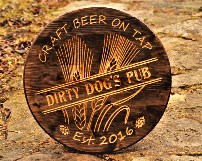 Craft Beer Gifts Craft Beer Signs Personalized Bar Sign Bar Signs Beer Sign Craft Beer Gift, Man Fathers Gift, Wine Makers Sign, Tavern Pub