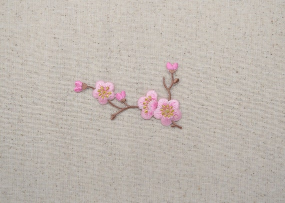 Cherry Blossom Pink Flowers Brown Stem Left Or Right