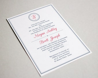 Elegant Wedding Invitation + Response Card