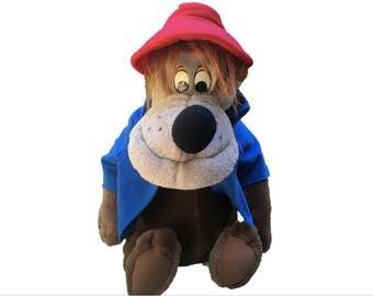 "Vintage 16"" Brer Bear Plush - Walt Disney World / Disneyland Souvenir - Song of the South - Splash Mountain Teddy - Collectible Kids Toy"