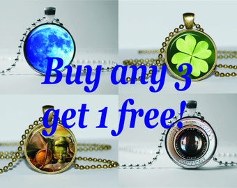 SALE! NECKLACE PENDANT!!! Jewelry Discount. Buy 3 Necklaces Get 1 Free! Art Gift for Her or Him! Gifts for friends and employees!