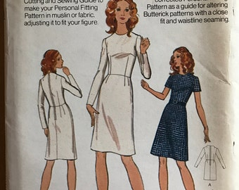 Butterick 3002 - Slim Fitting Shell Dress in Knee Length - Size 6 Bust 30.5