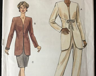 Vogue 9181 - Easy Separates with Jacket, Skirt, and Pants - Size 8 10 12