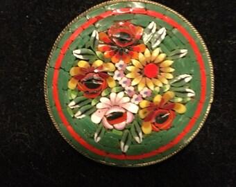 Vintage Micro Mosaic Pin