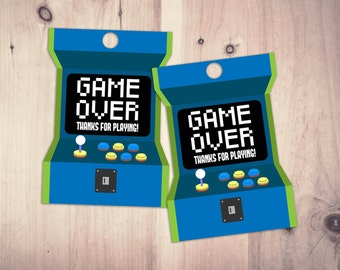 Video Game Tags   Game Truck Party   Video Game Party Favor   Game Truck, VIP , Favor Tags, Digital files, printables