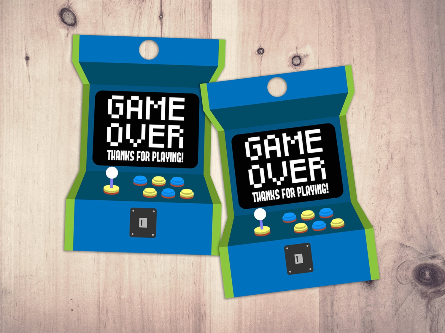 Video Game Tags | Game Truck Party | Video Game Party Favor| Boy ...