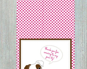Puppy / Dog Themed Thank You Card - Digital File - Downloads Instantly - DIY