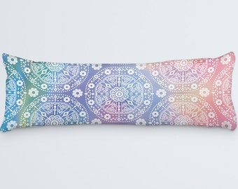 Bohemian Body Pillow Colorful Large Pillow Body Pillow Cover Modern Bed Pillows
