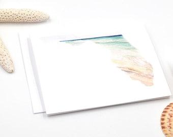 Florida Greeting Card - Watercolor Notecard - Florida Watercolor - Watercolor State Notecards - Blank Notecards - Florida Gulf Coast