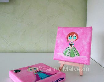 Elsa and Anna (Frozen) - Mini paintings