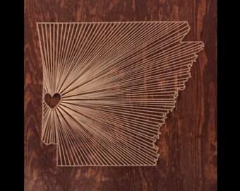 Arkansas String Art | Made to Order, Custom String Art