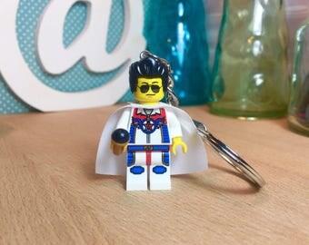 Elvis Presley Lego® Keychain Rock Music Custom Minifigure Keyring Gift