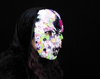 SALE - Kawaii Charm - Avant Garde Fantasy Harajuku Lolita Pastel Goth Japanese Decora Fashion Masquerade Mardi Gras Mask - Ready To Ship!