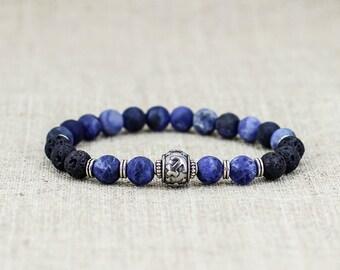 Gift-for-Men bracelet men gift-for-dad gifts Sagittarius jewelry Lava bracelet Healing bracelet Zodiac jewelry Zodiac bracelet Energy stones