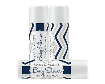 Lip Balm Labels - Personalized Lip Balm Labels - Baby Shower Lip Balm labels - 1 Sheet of 12 Lip Balm Labels - Custom Lip Balm Labels