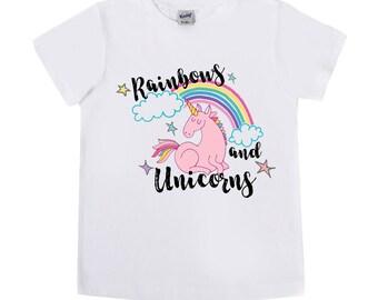 Unicorn Shirt - Rainbows and Unicorns - Birthday Shirts - Baby Bodysuits - Girls' Shirts - Unicorn Birthday - First Birthday - Trendy Tees