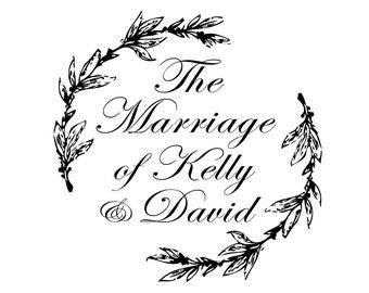 Wedding Monogram Crest with Calligraphy